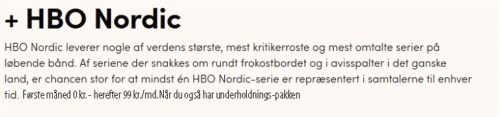 Canal Digital - HBO Nordic
